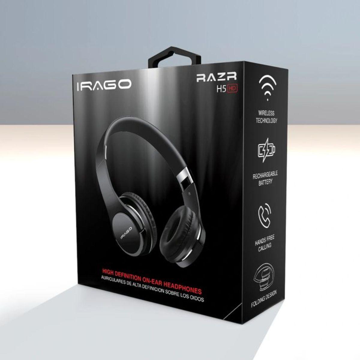 audifonos inalambricos de alta definicion plegable sonido estereo irago razr 3 1