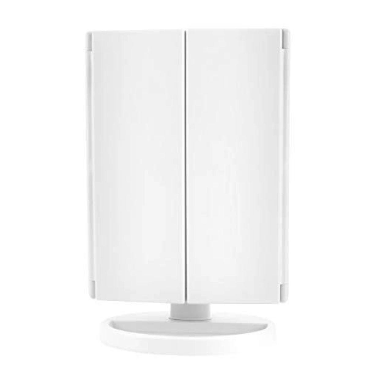 espejo de tocador inalambrico con luz led 1