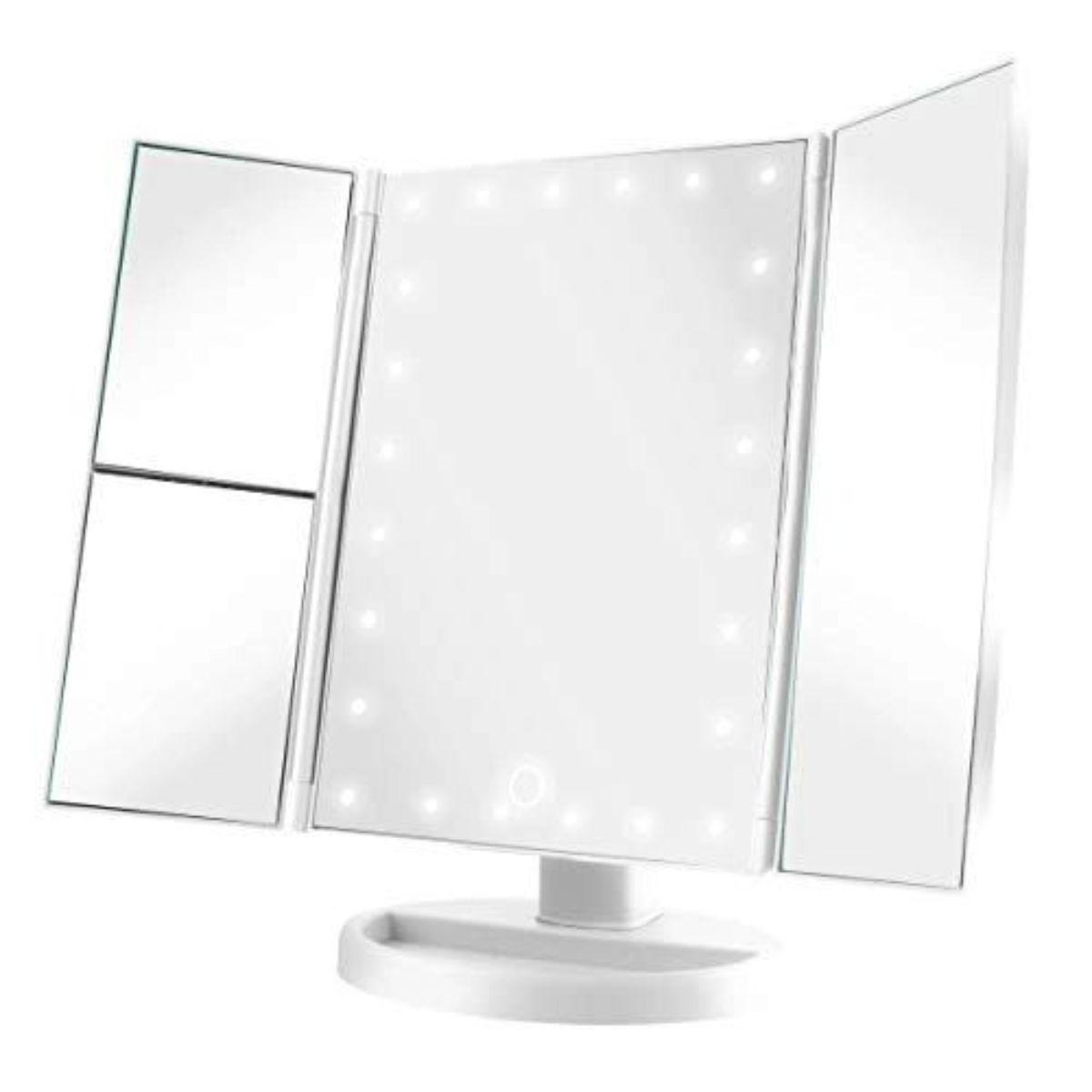 espejo de tocador inalambrico con luz led 3 1