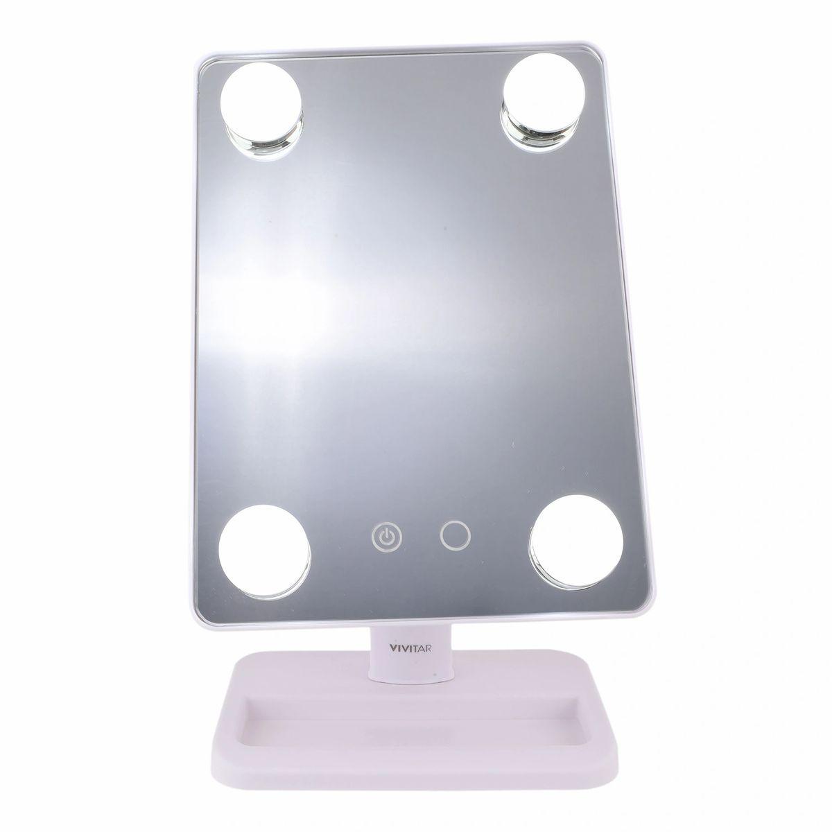 espejo portatil vivitar con luz calida y blanca hollywood 1