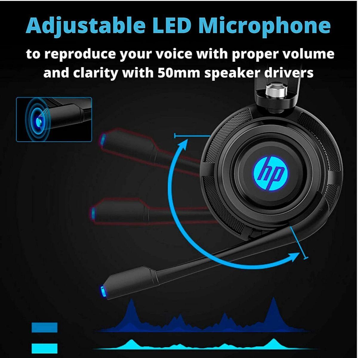 hp auriculares estereo con cable para juegos con microfono 4 1