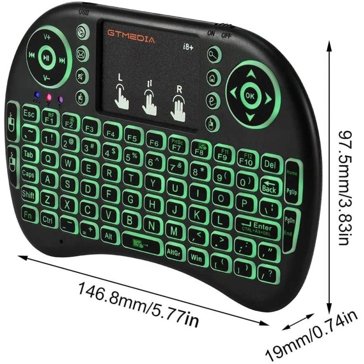 mini teclado inalambrico con panel tactil retroiluminado 3 1 1
